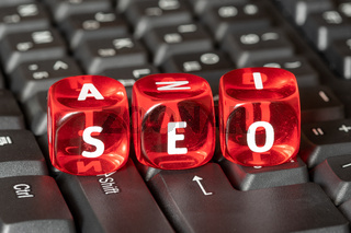 Cubes with the acronym SEO