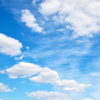 Summer sky with white clouds