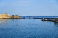 The entrance to the Grand harbor, Valletta, Malta