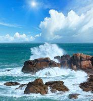 The Pink Granite sunshiny Coast (Brittany, France).