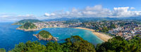 Panoramic view of San Sebastian in Spain