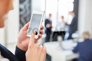 Smartphone App zur mobilen Kommunikation
