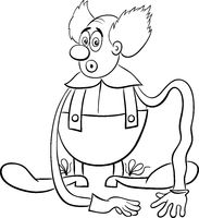 circus clown coloring page