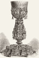 Monstrance in the chapel of the Palace of Ajuda, Lisbon, Portugal