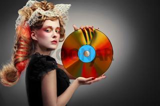 Laserdisco shining girl