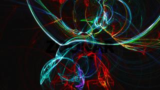 Abstract fractal light background. Digital 3d rendering backdrop