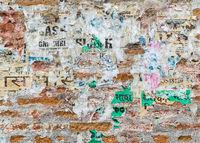 Grungy brick wall texture