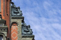 Hanover - Mythical creatures on stepped gable