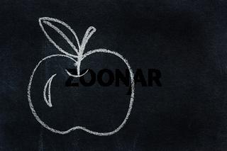Symbol written in white chalk