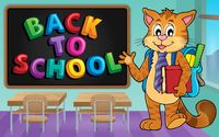 School cat theme image 3 - picture illustration.