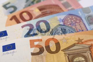 Euro Scheine als Geldfächer