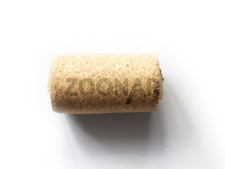 wine cork isolated