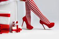 Santa woman legs