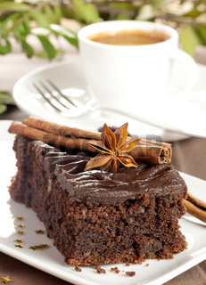 frischer Schokoladenkuchen / fresh chocolate cake