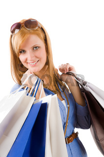 Shopping young woman with bag