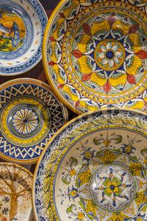 Keramik in Massa Marittima, Toskana, Italien