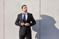 Startup Mann als entschlossener Entrepreneur