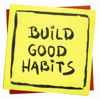 Build good habits inspirational reminder