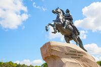 Equestrian statue of Peter the Great in Saint Petersburg