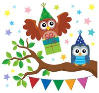 Party owls theme image 3
