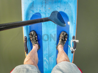 Racing stand up paddleboard