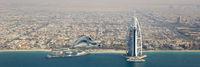 Dubai Burj Al Arab Hotel Panorama Luftaufnahme Luftbild
