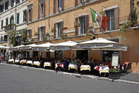 Restaurant, Piazza Navona Square, Rome, Italy, Europe
