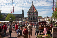 Cheese market in Gouda in the Dutch province of South Holland