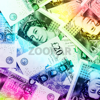 Pound currency background - Rainbow