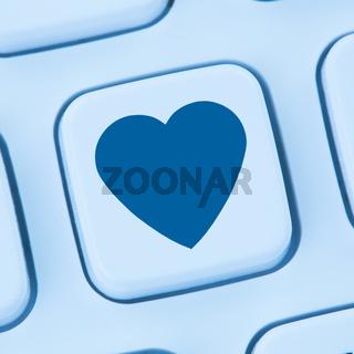 Partner Liebe Internet online Dating Partnervermittlung Herz blau web