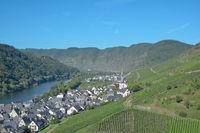 Wine Village of Ediger-Eller at Mosel River in Mosel Valley near Cochem,Germany