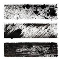 Set of black stenciled stripes