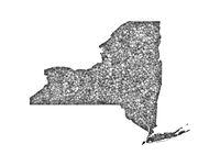 Karte von New York auf Mohn - Map of New York on poppy seeds
