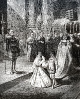 Children wedding in 1307, Joan II, Countess of Burgundy and Philipp von Poitiers