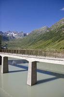 Vermunt reservoir in the Silvretta mountains