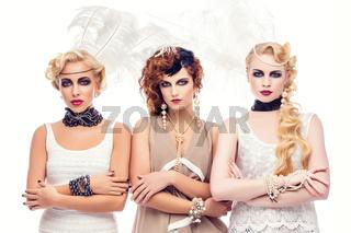 Beautiful retro style girls