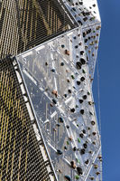 Outdoor climbing wall on a tower