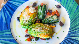 stuffed with cheese pumpkin flowers and zucchini