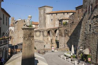 Platz in Pitigliano, Maremma, Toskana, Italien