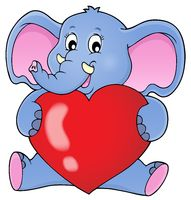 Elephant holding heart theme image 1