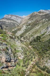 Stunning mountain scenery of Montenegro