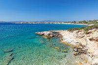 Farangas beach in Paros, Greece