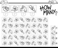 counting farm animals coloring page