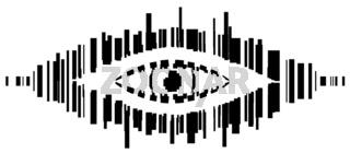Barcode Eye Stencil