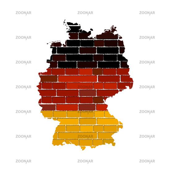 Grunge germany map
