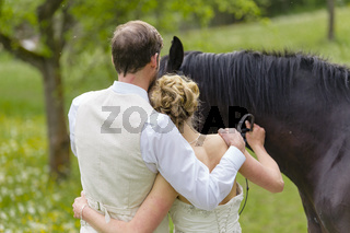 Wedding with horse