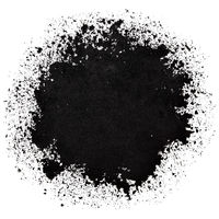Black round stain