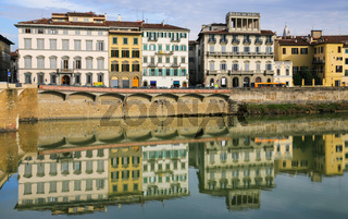 apartment houses on waterfront in Florence