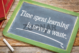 Time spent learning in never a waste