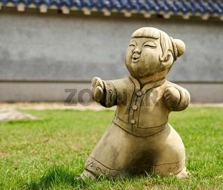 Funny traditional Thai garden sculpture